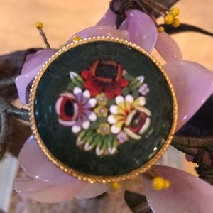 Vintage mosaic brooch